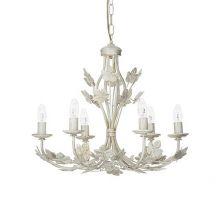 Champagne lampa wisząca 6x40W E14 230V biała